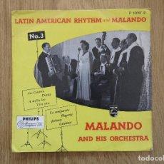 Discos de vinilo: RARE 10 INCH MALANDO AND HIS ORCHESTRA LATIN AMERICAN RYTHM WITH MALADO NO 3 ROY ETZEL ALFRED HAUSE. Lote 80182681