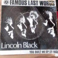 Discos de vinilo: SINGLE (VINILO) DE LINCOLN BLACK AÑOS 70. Lote 80190281
