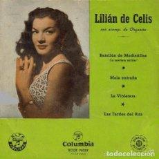 Discos de vinilo: LILIAN DE CELIS- BATALLÓN DE MODISTILLAS + 3 TEMAS - EP COLUMBIA 1958. Lote 80235097