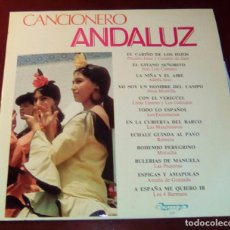 Discos de vinilo: CANCIONERO ANDALUZ - LP - 1972 - COMO NUEVO. Lote 80303753