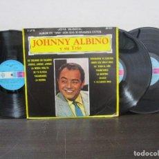 Discos de vinilo: JOHNNY ALBINO Y SU TRIO ALBUM 3 LPS 1980 BOLERO BOLEROS MUSICA ROMANTICA LP VINILO VG RAREZA. Lote 80312577