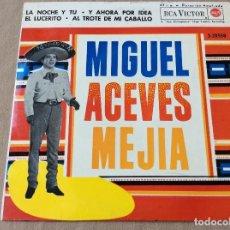 Discos de vinilo: MIGUEL ACEVES MEJIA CON EL MARIACHI VARGAS DE TECALITLAN. LA NOCHE Y TÚ Y 3 MAS. RCA 1962. Lote 80345925