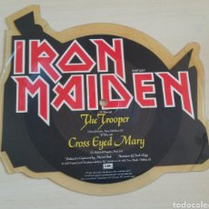 Discos de vinilo: IRON MAIDEN -THE TROOPER- SHAPE PICTURE DISCO SINGLE. Lote 210063006