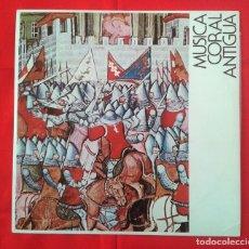 Discos de vinilo: AGRUPACION CORAL CAMARA PAMPLONA - MUSICA CORAL ANTIGUA & LUIS DE MORONDO LP 1974 USANDIZAGA. Lote 80364225