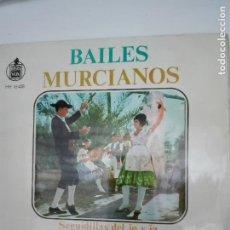 Disques de vinyle: BAILES MURCIANOS - HISPAVOX 1963. Lote 80382865