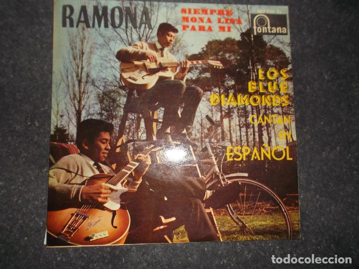 LOS BLUE DIAMONDS RAMONA MONALISA SIEMPRE - PARA MI - 1961 ED ESPAÑOLA FONTANA (Música - Discos de Vinilo - EPs - Rock & Roll)