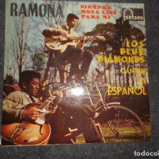 Discos de vinilo: LOS BLUE DIAMONDS RAMONA MONALISA SIEMPRE - PARA MI - 1961 ED ESPAÑOLA FONTANA. Lote 80387037