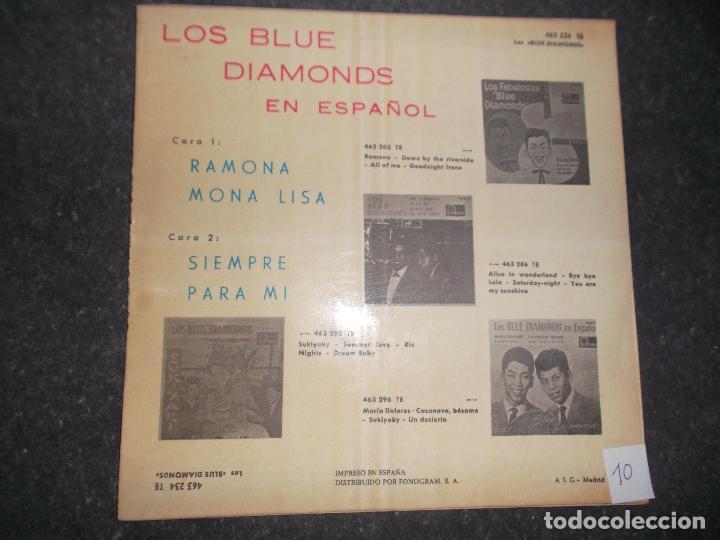 Discos de vinilo: LOS BLUE DIAMONDS RAMONA MONALISA SIEMPRE - PARA MI - 1961 ED ESPAÑOLA FONTANA - Foto 2 - 80387037