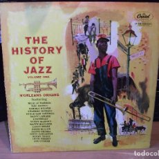 Discos de vinilo: VARIOS - JAZZ THE HISTORY OF JAZZ.VOL. 1 LP SPAIN 1958 PDELUXE . Lote 80395077