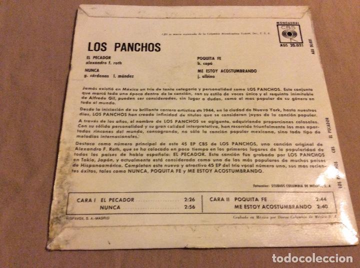 Discos de vinilo: LOS PANCHOS . EL PECADOR. NUNCA. POQUITA FE. ME ESTOY ACOSTUMBRANDO. CBS - Foto 2 - 80403581