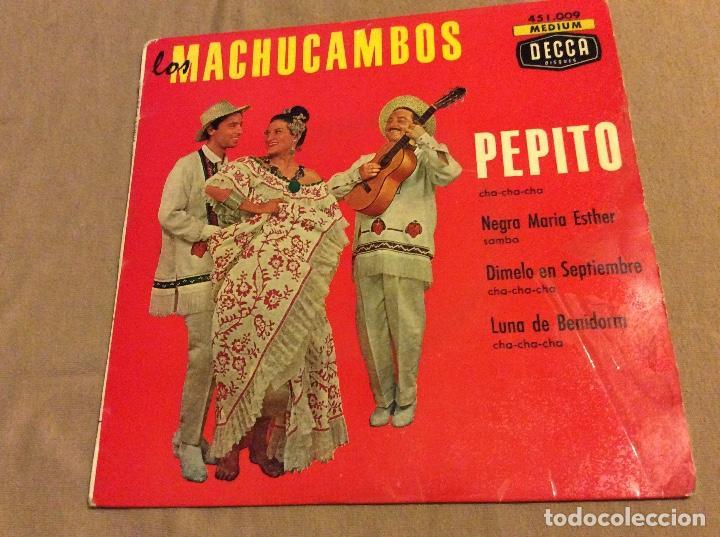 LOS MACHUCAMBOS, PEPITO. NEGRA MARIA ESTHER. DÍMELO EN SEPTIEMBRE. LUNA DE BENIDORM (Música - Discos de Vinilo - EPs - Grupos y Solistas de latinoamérica)