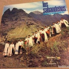 Disques de vinyle: LOS SABANDEÑOS. ANTOLOGÍA DEL FOLKLORE CANARIO VOL. 1 , COLUMBIA. Lote 80406209