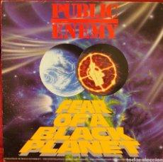 Discos de vinilo: PUBLIC ENEMY FEAR...1990 LP DEF JAM CON ENCARTE. Lote 111334851