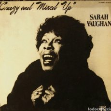 Discos de vinilo: SARAH VAUGHAN VRAZY AND MIXED UP PABLO RECORDS 1983. Lote 80429671