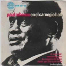 Disques de vinyle: PAUL ROBESON / OL' MAN RIVER + 3 (EP 1963). Lote 80430057