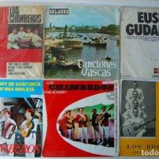 Discos de vinilo: LOTE 6 VINILOS CANCIONES AUTOCTONAS DEL PAIS VASCO.. Lote 80470385