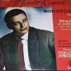 Discos de vinilo: SINGLE DE VINILO:ALFREDO KRAUS,ROMANZAS VOL. 2. Lote 80482617