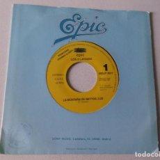 Discos de vinilo: LOS 5 LATINOS-LA MONTAÑA DE IMITTOS - 1991 EPIC PROMOCIONAL. Lote 80488377