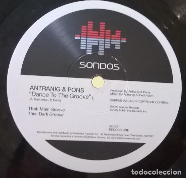 Discos de vinilo: Antranig & Pons-Dance To The Groove, Sondos-SON 21 - Foto 5 - 80505629
