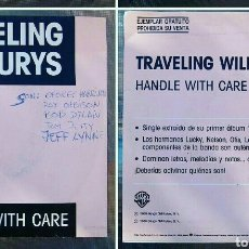 Discos de vinilo: TRAVELLING WILBURYS HANDLE WITH CARE SINGLE. Lote 80506451