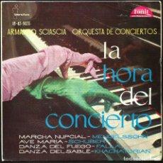 Discos de vinilo: ARMANDO SCIASCIA - ORQUESTA DE CONCIERTOS (EP) 1961 - MARCHA NUPCIAL. AVE MARIA .... Lote 27133983