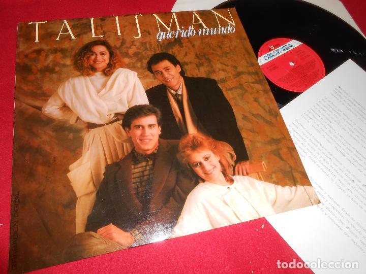 TALISMAN QUERIDO MUNDO LP 1985 COLUMBIA PROMO EDICION ESPAÑOLA SPAIN + HOJA PROMO (Música - Discos - LP Vinilo - Grupos Españoles de los 70 y 80)