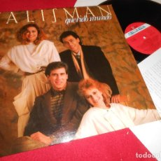 Discos de vinilo: TALISMAN QUERIDO MUNDO LP 1985 COLUMBIA PROMO EDICION ESPAÑOLA SPAIN + HOJA PROMO. Lote 80577450