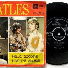 Discos de vinilo: THE BEATLES - HELLO GOODBYE - SINGLE PARLOPHONE 1967 SWEDEN (EDICION SUECIA) BPY. Lote 80578150