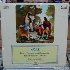 Discos de vinilo: RAVEL . BOLERO / PAVANA PARA UNA INFANTA DIFUNTA / RAPSODIA ESPAÑOLA / LA VALSE. LP. Lote 80578794