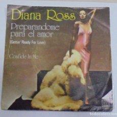 Discos de vinilo: SINGLE. DIANNA ROSS. PREPARANDOME PARA EL AMOR. 1977. MOTOWN. Lote 80585954