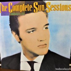 Discos de vinilo: ELVIS PRESLEY -THE COMPLETE SUN SESSIONS (GERMANY 1987)+POSTER+HOJA PROMOCION. Lote 80589490