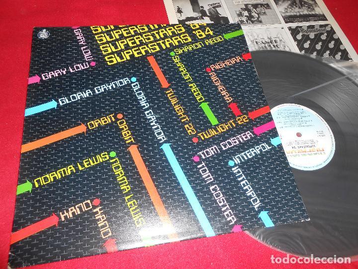 SUPERSTARS'84 LP 1984 HISPAVOX EDICION ESPAÑOLA SPAIN RECOPILATORIO GLORIA GAYNOR + GARY LOW + ETC (Música - Discos - LP Vinilo - Disco y Dance)