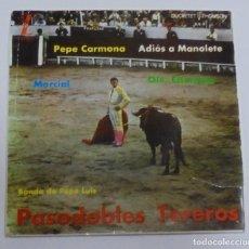 Discos de vinilo: SINGLE. PASODOBLES TOREROS. BANDA DE PEPE LUIS. 1962. ZAFIRO. Lote 80594678