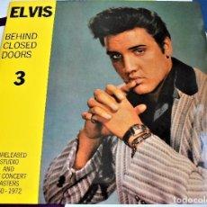 Discos de vinilo: ELVIS PRESLEY - BEHIND CLOSED DOORS - 4 DISCOS (10INCH LP) / RAREZA. Lote 80601322