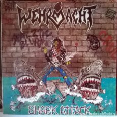 Discos de vinilo: WEHRMACHT. SHARK ATTACK. METAL RECORDS, WEST GERMANY 1987 LP ORIGINAL. Lote 80629170