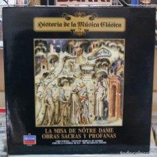 Discos de vinilo: LA MISA DE NOTRE DAME. OBRAS SACRAS Y PROFANAS. DECCA 1985. Lote 80649526
