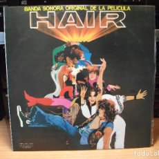 Discos de vinilo: BSO - HAIR HAIR LP SPAIN 1979 PDELUXE. Lote 80657930