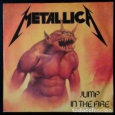 Discos de vinilo: METALLICA. JUMP IN THE FIRE. VINILO MAXI-SINGLE. MEGAFORCE RECORDS. MUSIC FOR NATIONS. 1983. Lote 80705766
