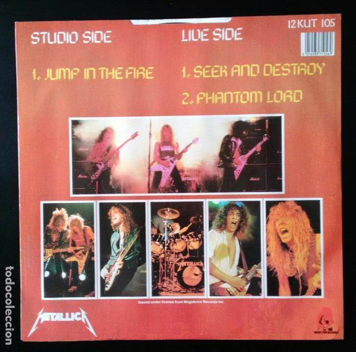 Discos de vinilo: METALLICA. JUMP IN THE FIRE. VINILO MAXI-SINGLE. MEGAFORCE RECORDS. MUSIC FOR NATIONS. 1983 - Foto 2 - 80705766