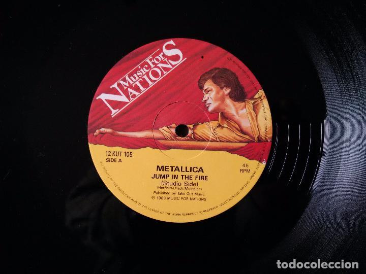 Discos de vinilo: METALLICA. JUMP IN THE FIRE. VINILO MAXI-SINGLE. MEGAFORCE RECORDS. MUSIC FOR NATIONS. 1983 - Foto 3 - 80705766