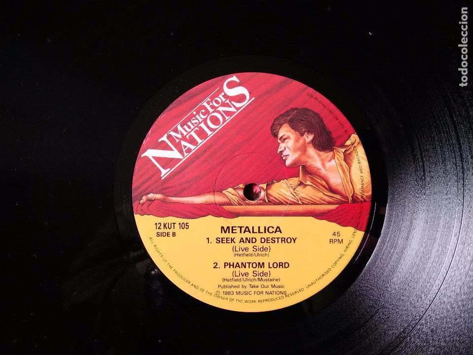 Discos de vinilo: METALLICA. JUMP IN THE FIRE. VINILO MAXI-SINGLE. MEGAFORCE RECORDS. MUSIC FOR NATIONS. 1983 - Foto 4 - 80705766