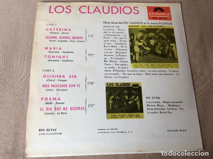 Discos de vinilo: LOS CLAUDIOS. CATERINA. CUANDO, CUANDO,CUANDO. MARÍA. TONIGHT, y otras. Polydor 1964 - Foto 2 - 80706502