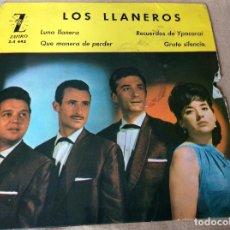 Discos de vinilo: LOS LLANEROS. LUNA LLANERA. QUÉ MANERA DE PERDER. RECUERDOS DE YPACARAI. GRATO SILENCIO. ZAFIRO1963. Lote 80707642