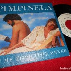Discos de vinilo: PIMPINELA TU ME PROMETISTE VOLVER/TE DIGO BLANCO, ME DICES NEGRO 7'' SINGLE 1981 EPIC PROMO SPAIN. Lote 80712770