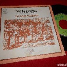 Discos de vinilo: LOS FOLKLORISTAS LA MALAGUEÑA/LA MUJER INCONFORME 7'' SINGLE 1977 MOVIEPLAY PROMO ED. ESPAÑOLA SPAIN. Lote 80713162