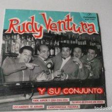 Discos de vinilo: RUDY VENTURA Y SU CONJUNTO-PAN AMOR Y CHA CHA CHA.TUBESO ES COMO UN ROCK-LOCAMENTE TE AMARE-CANCIONC. Lote 80729954