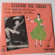 Discos de vinilo: LILIAN DE CELIS-LA VIOLETERA-MIMOSA-FLOR DE TE-AGUA QUE NO HAS DE BEBER- COLUMBIA ED ESPAÑOLA. Lote 204417832