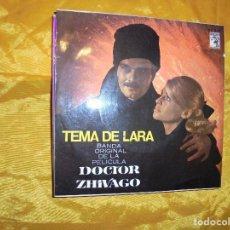 Discos de vinilo: TEMA DE LARA. BANDA ORIGINAL DE LA PELICULA DOCTOR ZHIVAGO. MGM 1966. IMPECABLE. Lote 80756446