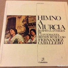 Discos de vinilo: HIMNO A MURCIA. ORFEON MURCIANO FERNANDEZ CABALLERO. COLUMBIA 1963. Lote 80762710