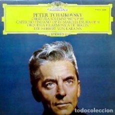 Discos de vinilo: PETER TCHAIKOVSKY, ORQUESTA FILARMONICA DE BERLIN, HERBERT VON KARAJAN-OBERTURA SOLEMNE 1812. Lote 80765590